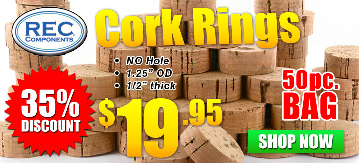 Discounted REC Cork Rings